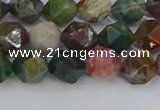 CAA1027 15.5 inches 8mm faceted nuggets Indian agate beads