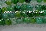 CAA1065 15.5 inches 4mm round dragon veins agate beads wholesale