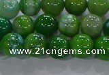 CAA1068 15.5 inches 10mm round dragon veins agate beads wholesale