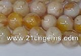 CAA1072 15.5 inches 8mm round sakura agate gemstone beads