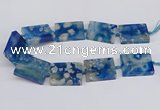 CAA1165 15.5 inches 30*40mm rectangle sakura agate gemstone beads