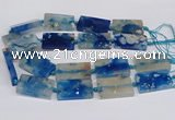 CAA1168 15.5 inches 22*40mm rectangle sakura agate gemstone beads
