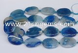 CAA1173 15.5 inches 25*35mm - 30*40mm freeform sakura agate beads