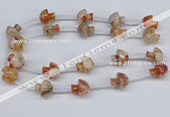 CAA1194 15.5 inches 20*21mm mushroom sakura agate gemstone beads