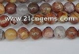 CAA1220 15.5 inches 4mm round gold mountain agate beads