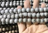 CAA1310 15.5 inches 10mm round matte plated druzy agate beads