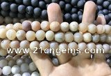 CAA1312 15.5 inches 10mm round matte plated druzy agate beads