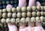 CAA1376 15.5 inches 16mm round matte plated druzy agate beads