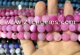 CAA1422 15.5 inches 10mm round matte druzy agate beads