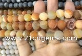 CAA1434 15.5 inches 12mm round matte druzy agate beads