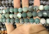 CAA1439 15.5 inches 12mm round matte druzy agate beads
