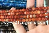 CAA1567 15.5 inches 6mm round banded agate beads wholesale