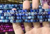 CAA1578 15.5 inches 4mm round banded agate beads wholesale