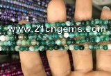 CAA1596 15.5 inches 4mm round banded agate beads wholesale