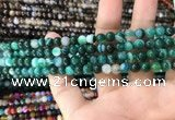 CAA1597 15.5 inches 6mm round banded agate beads wholesale