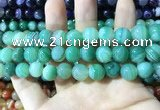 CAA1600 15.5 inches 12mm round banded agate beads wholesale