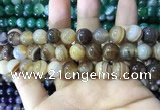 CAA1618 15.5 inches 12mm round banded agate beads wholesale
