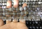CAA1633 15.5 inches 12mm faceted round banded agate beads