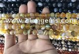 CAA1645 15.5 inches 6mm faceted round banded agate beads