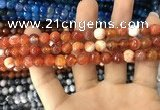 CAA1712 15 inches 8mm faceted round fire crackle agate beads