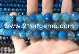 CAA1735 15 inches 10mm faceted round fire crackle agate beads