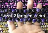 CAA1777 15 inches 10mm faceted round fire crackle agate beads