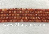 CAA1901 15.5 inches 6mm round banded agate gemstone beads