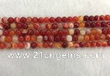 CAA1911 15.5 inches 6mm round banded agate gemstone beads