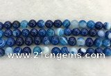 CAA1932 15.5 inches 8mm round banded agate gemstone beads