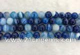 CAA1934 15.5 inches 12mm round banded agate gemstone beads