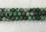 CAA1995 15.5 inches 14mm round banded agate gemstone beads