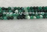 CAA2012 15.5 inches 8mm round banded agate gemstone beads