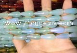 CAA2056 15.5 inches 8*20mm teardrop agate beads wholesale