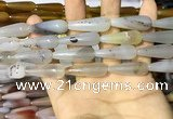 CAA2061 15.5 inches 10*30mm teardrop agate beads wholesale