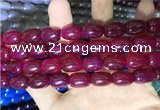 CAA2117 15.5 inches 10*14mm drum agate beads wholesale