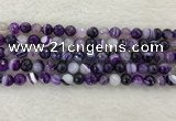 CAA2213 15.5 inches 8mm faceted round banded agate beads