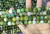 CAA2272 15.5 inches 8mm faceted round banded agate beads