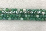CAA2279 15.5 inches 8mm faceted round banded agate beads