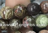 CAA2386 15.5 inches 8mm faceted round ocean agate beads wholesale