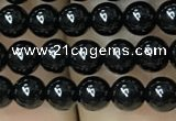 CAA2403 15.5 inches 6mm round black agate beads wholesale