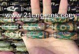 CAA2695 15.5 inches 14*38mm - 16*43mm rice tibetan agate dzi beads