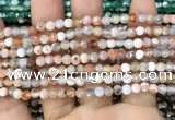 CAA2811 15 inches 4mm faceted round fire crackle agate beads wholesale