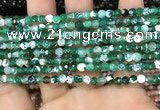 CAA2812 15 inches 4mm faceted round fire crackle agate beads wholesale