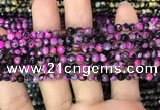 CAA2824 15 inches 4mm faceted round fire crackle agate beads wholesale
