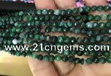 CAA2838 15 inches 4mm faceted round fire crackle agate beads wholesale