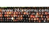 CAA2882 15 inches 6mm faceted round fire crackle agate beads wholesale