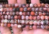 CAA2897 15 inches 6mm faceted round fire crackle agate beads wholesale