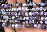 CAA2905 15 inches 6mm faceted round fire crackle agate beads wholesale