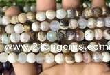 CAA2976 15 inches 8mm faceted round fire crackle agate beads wholesale