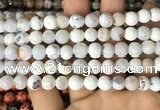 CAA2984 15 inches 8mm faceted round fire crackle agate beads wholesale